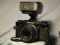 '                            1N BLACK + 50mm + T20 ' Olympus OM-1N Pro SLR Camera + 50mm Lens £89.99